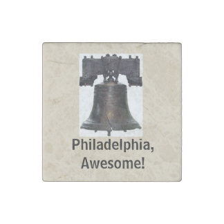 Philadelphia, Awesome!/ Liberty Bell Magnet Stone Magnets