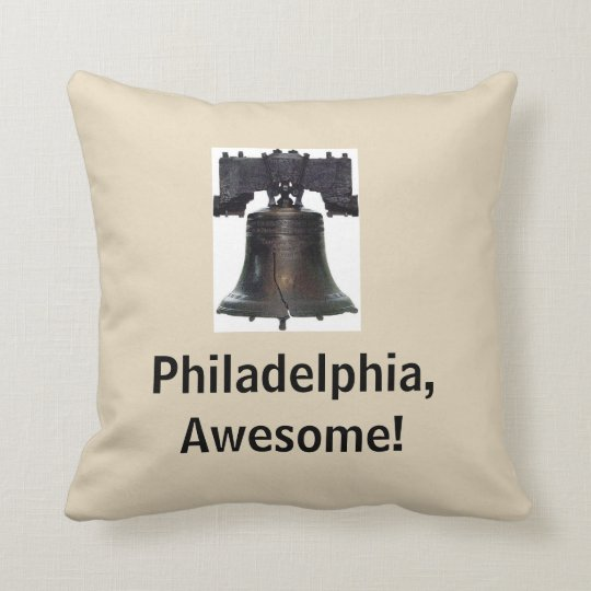 Philadelphia, Awesome!/ Liberty Bell Throw Pillow