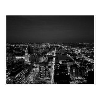 Philadelphia Black And White Skyline Postcard