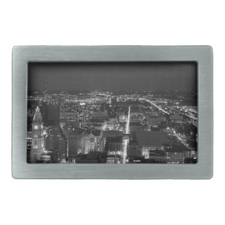 Philadelphia Black And White Skyline Rectangular Belt Buckles