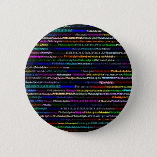 Philadelphia Black Background Button