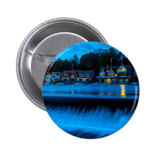 Philadelphia Boathouse Row At Sunset 2 Inch Round Button