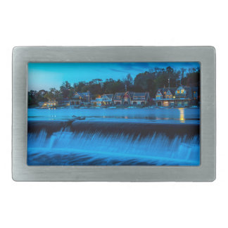 Philadelphia Boathouse Row At Sunset Belt Buckles