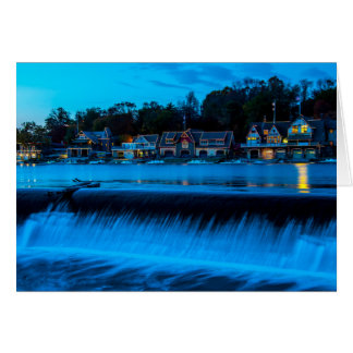 Philadelphia Boathouse Row At Sunset Card