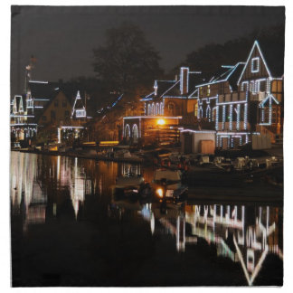 Philadelphia Boathouse Row At Sunset Cloth Napkin