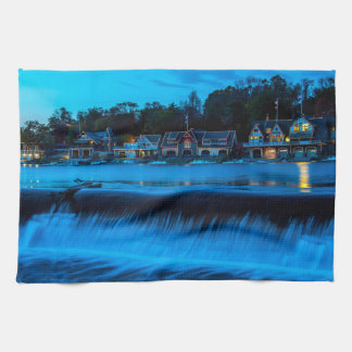 Philadelphia Boathouse Row At Sunset Kitchen Towels