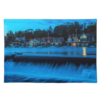 Philadelphia Boathouse Row At Sunset Placemat