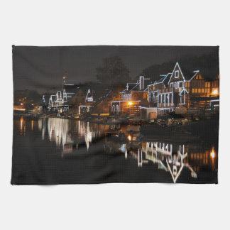 Philadelphia Boathouse Row At Sunset Towel
