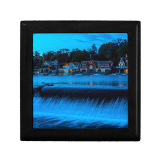 Philadelphia Boathouse Row At Sunset Trinket Boxes