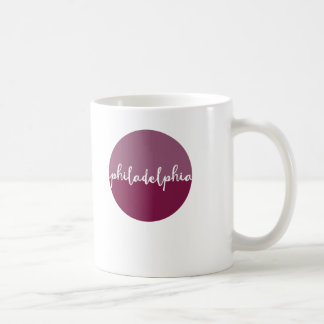 Philadelphia calligraphy circle coffee mug