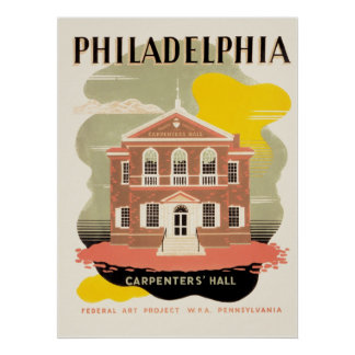 Philadelphia Carpenter's Hall Poster