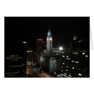 Philadelphia Center City Night Card