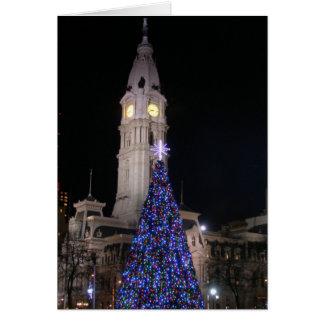 Philadelphia City Hall at Christmas Card