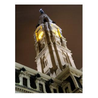 Philadelphia City Hall at Night Postcard