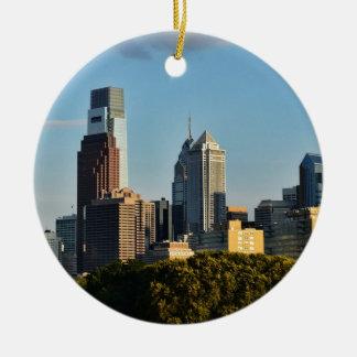 Philadelphia City Skyline Ceramic Ornament
