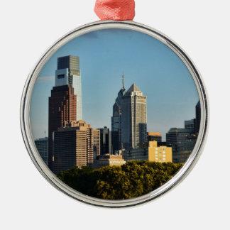 Philadelphia City Skyline Metal Ornament