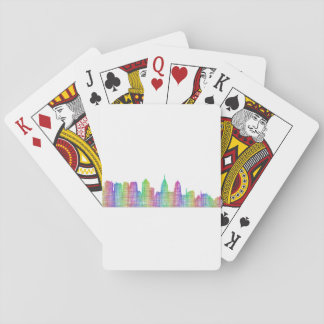 Philadelphia city skyline poker deck