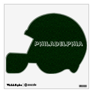Philadelphia Customizable Football Helmut Wall Sticker
