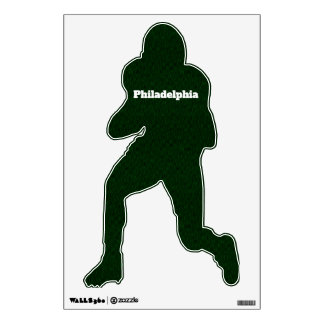 Philadelphia Customizable Football Player Wall Sticker