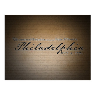 Philadelphia Declaration of Independence Postcard