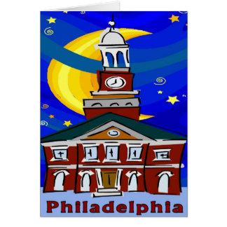 Philadelphia Independence Hall Starry Night Card