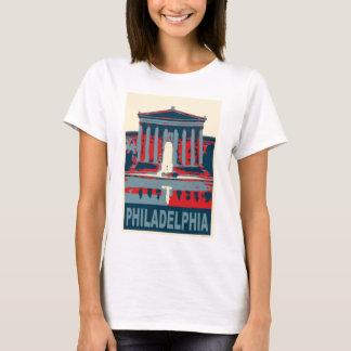 Philadelphia Museum in Blue T-Shirt