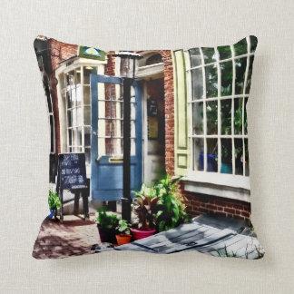 Philadelphia Pa Coffeehouse Throw Pillow