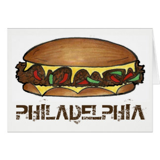Philadelphia PA Philly Cheese Steak Sandwich Food Card