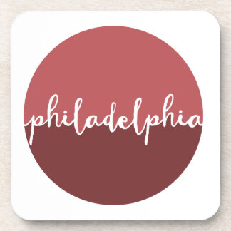 Philadelphia, PA | Rust Ombre Circle Drink Coasters