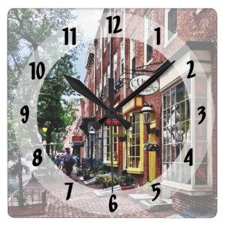 Philadelphia PA - S 2nd Street Square Wall Clock
