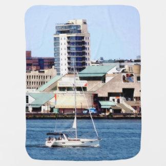 Philadelphia PA - Sailboat by Penn's Landing Baby Blanket