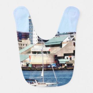 Philadelphia PA - Sailboat by Penn's Landing Bib