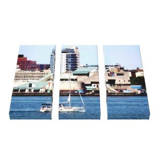 Philadelphia PA - Sailboat by Penn's Landing Canvas Print