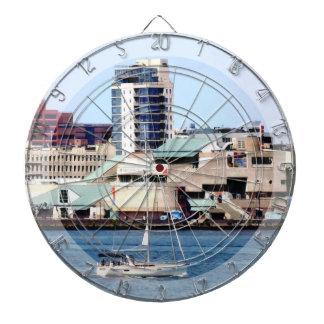 Philadelphia PA - Sailboat by Penn's Landing Dartboard