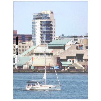 Philadelphia PA - Sailboat by Penn's Landing Dry Erase Board
