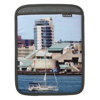 Philadelphia PA - Sailboat by Penn's Landing iPad Sleeve