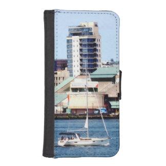 Philadelphia PA - Sailboat by Penn's Landing iPhone SE/5/5s Wallet Case