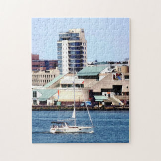 Philadelphia PA - Sailboat by Penn's Landing Jigsaw Puzzle