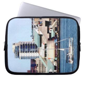 Philadelphia PA - Sailboat by Penn's Landing Laptop Sleeve