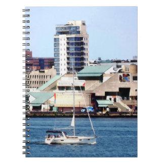 Philadelphia PA - Sailboat by Penn's Landing Notebooks