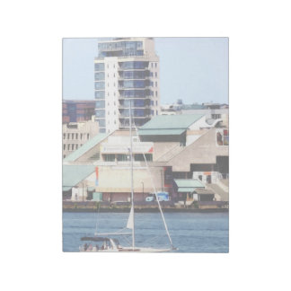 Philadelphia PA - Sailboat by Penn's Landing Notepad