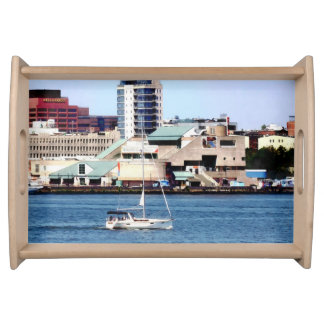 Philadelphia PA - Sailboat by Penn's Landing Serving Tray