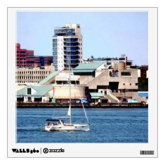 Philadelphia PA - Sailboat by Penn's Landing Wall Sticker