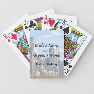 Philadelphia Pa Skyline II Wedding Products Bicycle Playing Cards