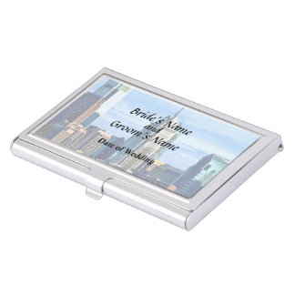 Philadelphia Pa Skyline II Wedding Products Business Card Holder