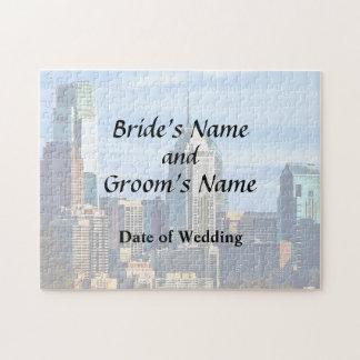 Philadelphia Pa Skyline II Wedding Products Jigsaw Puzzle