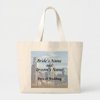 Philadelphia Pa Skyline II Wedding Products Large Tote Bag