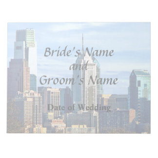 Philadelphia Pa Skyline II Wedding Products Notepad