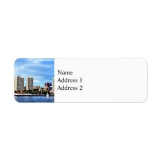 Philadelphia Pa Skyline Return Address Label