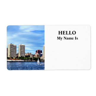 Philadelphia Pa Skyline Shipping Label